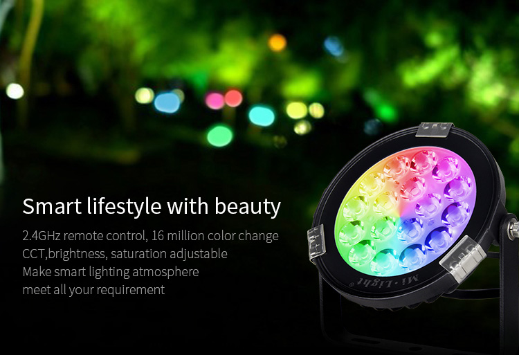 Mi-Light 9W RGB+CCT LED garden light FUTC01 smart life style beauty 2.4GHz 16 million colours
