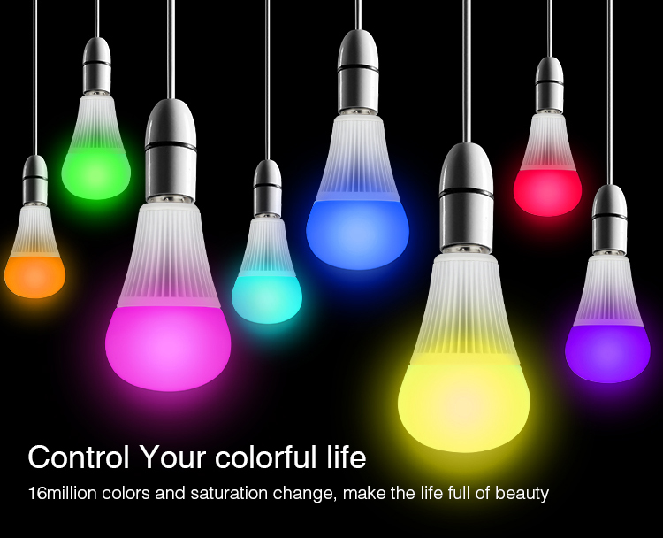 control colour of the light RGB CCT hanging pendant lamps smart bulbs