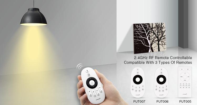 Mi-Light 9W dual white LED light bulb FUT019 compatible hand held remotes FUT007 FUT006 FUT005