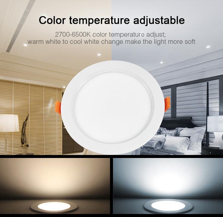 Mi-Light IP54 waterproof 15W RGB+CCT LED downlight FUT069 colour temperature adjustable smart ceiling lamp
