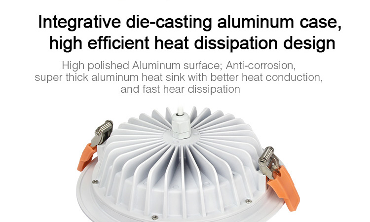 Mi-Light IP54 waterproof 15W RGB+CCT LED downlight FUT069 integrative die-casting aluminium body case design