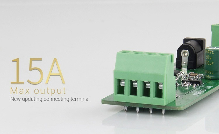 15A max output new updated connecting terminals
