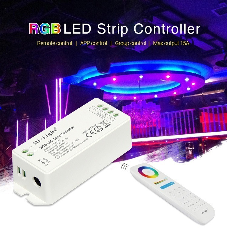 RGB LED strip controller remote control 15Amp smart lighting control