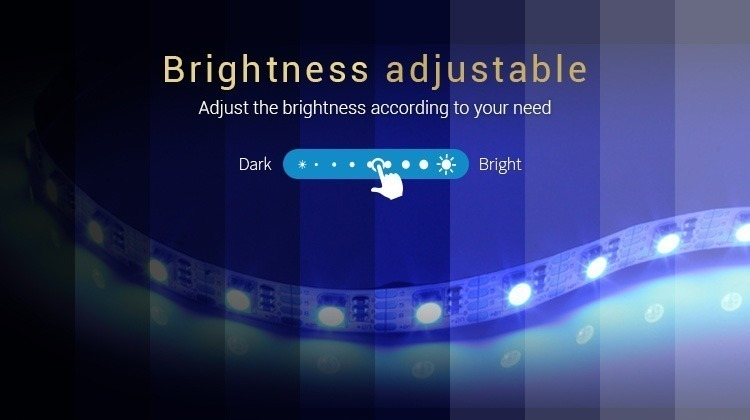brightness adjustable adjust the brightness according to your needs dark bright slider blue LED strip