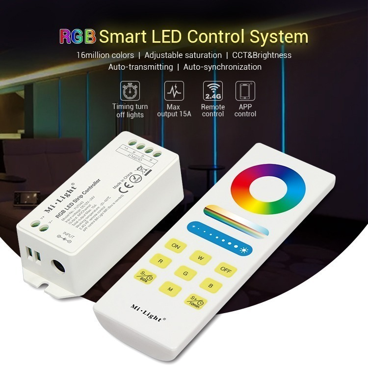 Mi-Light RGB smart LED control system FUT043A features