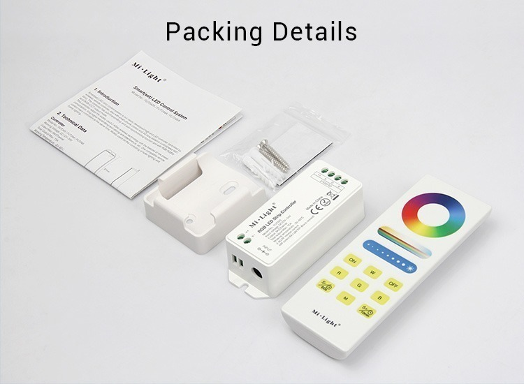Mi-Light RGB smart LED control system FUT043A packing details package includes