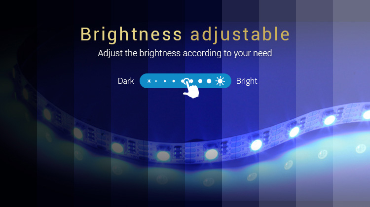 brightness adjustable adjust the brightness according to your needs RGB + CCT strip light