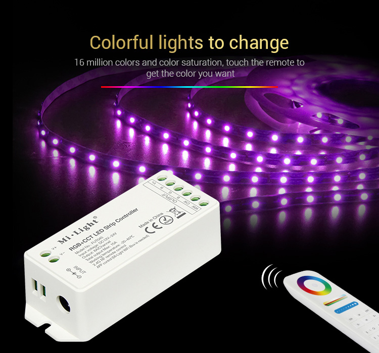 colourful light to change via remote controller zone control