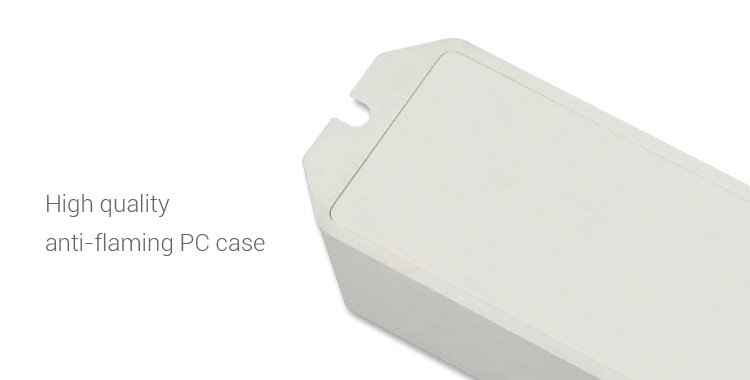 high quality anti-flame PC case plastic material white receiver box