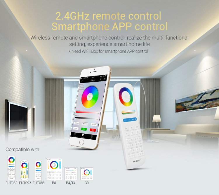 full control cooperation with transmitting devices FUT089 FUT092 FUT088 B8 B4 T4 B0 wall panels remote controllers