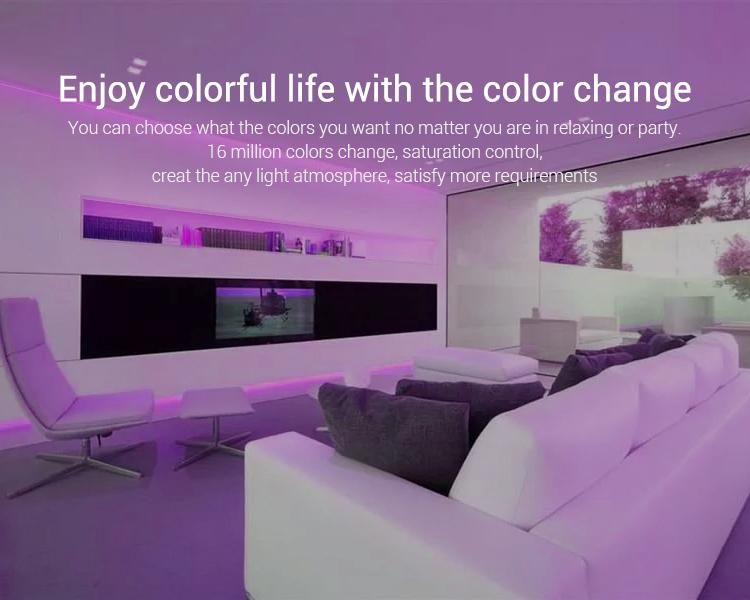 Enjoy colourful life with the colour change 16 million colours FUT088 remote controller Mi-Light