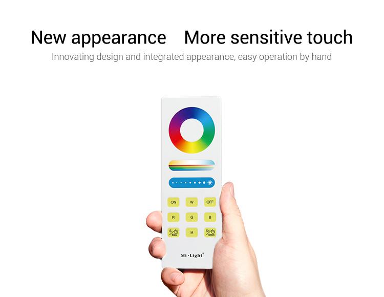 New appearance more sensitive touch Mi-Light FUT088 RGB+CCT remote control