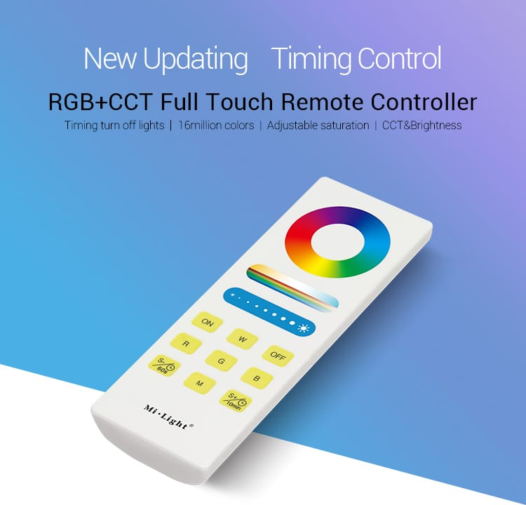New updated timing control RGB+CCT full touch remote controller FUT088