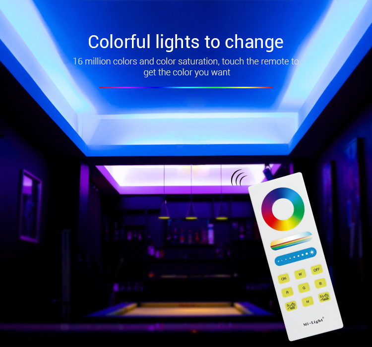 colourful lights to change smart milight controller in the club blue lights pink lighs disco