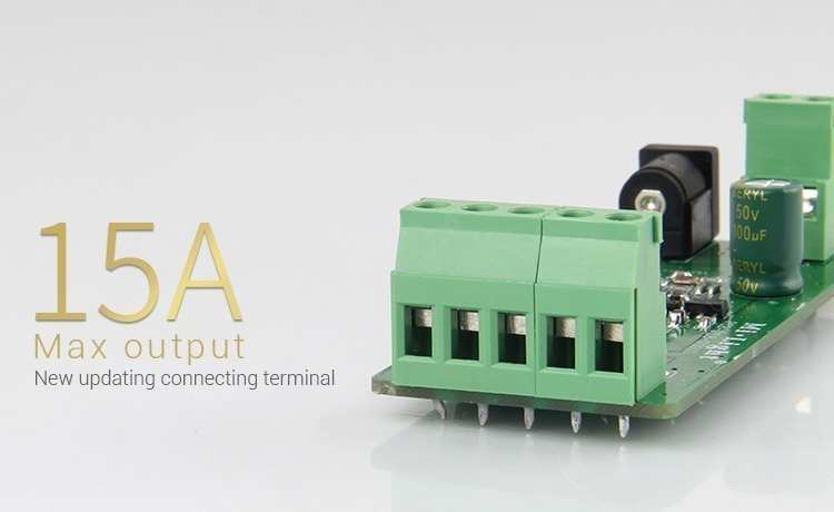 15Amp max output new updated connecting terminal