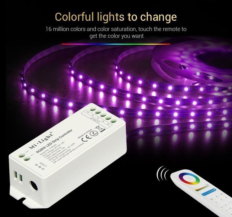 colourful lights to change LED strip cintrol inside living room smart home automation