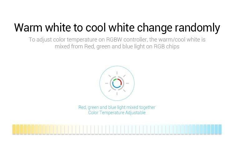 Mi-Light RGBW smart LED control system FUT044A CCT adjustable slider