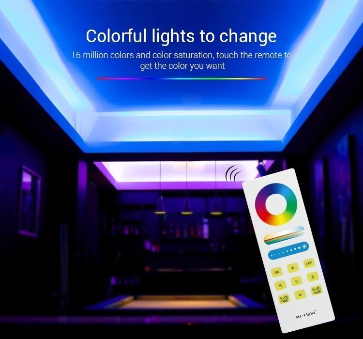 colourful lights Mi-Light RGBW smart LED control system FUT044A colour changing