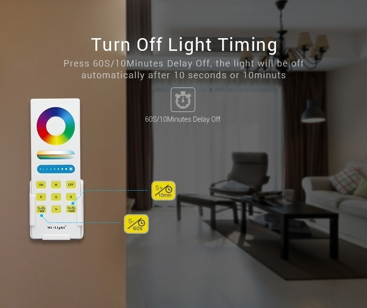 timer Mi-Light RGBW smart LED control system FUT044A switch on and off the lights