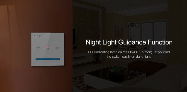 Mi-Light smart panel controller brightness P1 night light