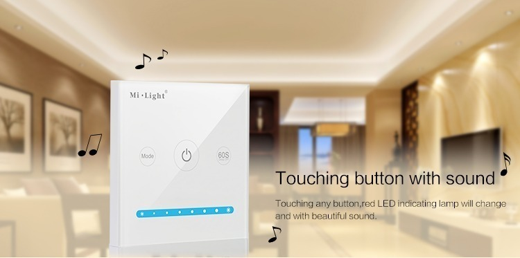 Mi-Light smart panel controller brightness P1 touch with sound