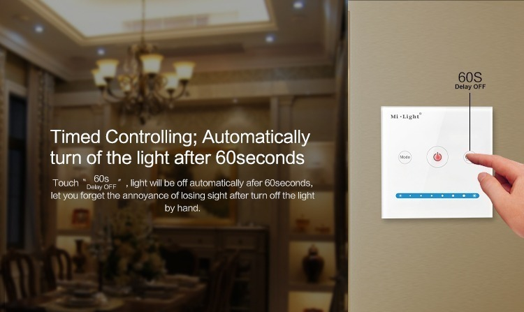 Mi-Light smart panel controller brightness P1 timer