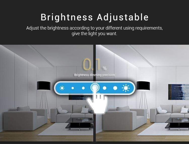 brightness adjustable slider wall panel controller LED smart lighting