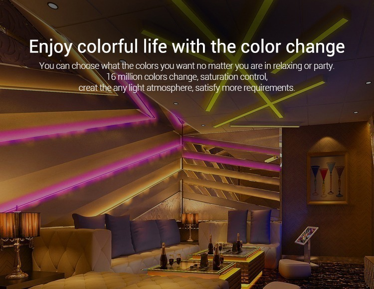 enjoy colourful life with the colour change 16 million colours LED smart lighting by Mi-Light