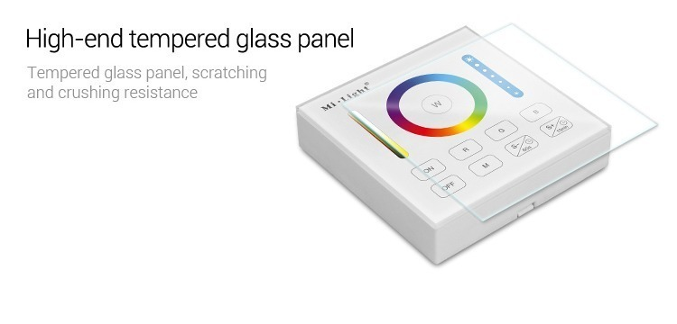 high-end tempered glass panel prevent scratching and crushing smart panel controller