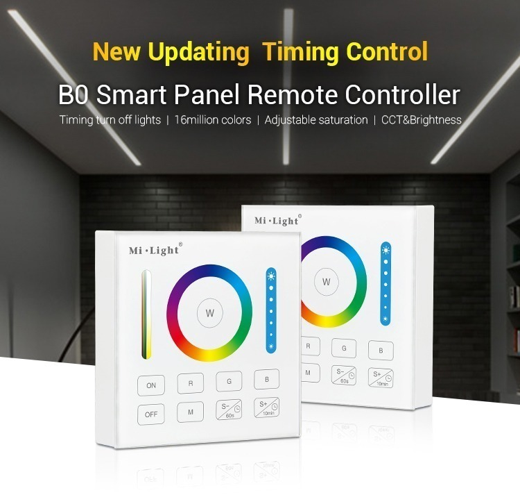 new updated timing control B0 smart remote controller wall panel milight