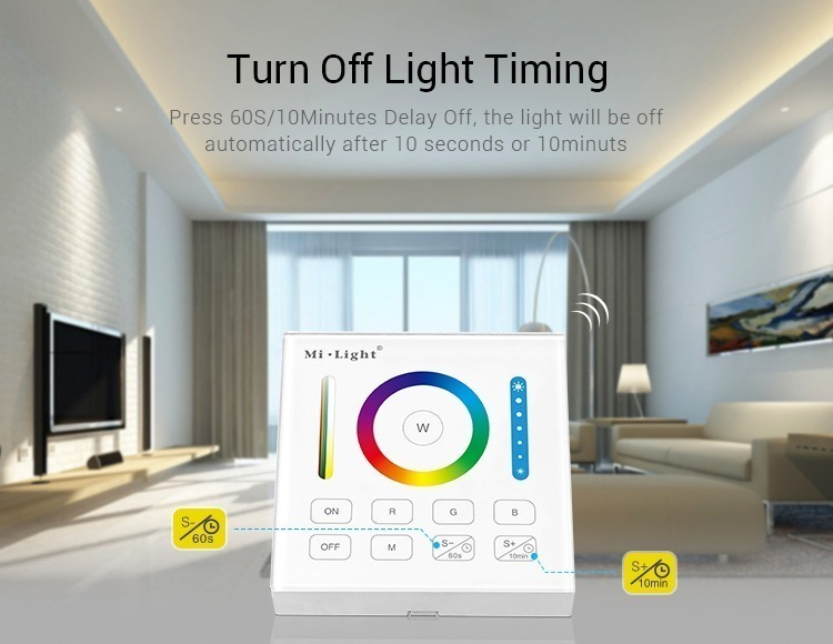 turn off light timing delay function 2 operating modes smart panel controller LED lights