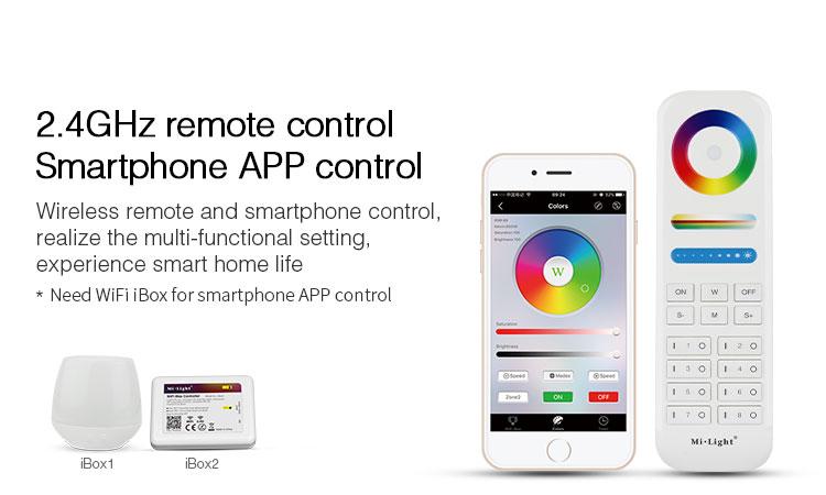 smart 2.4GHz remote control smartphone app control