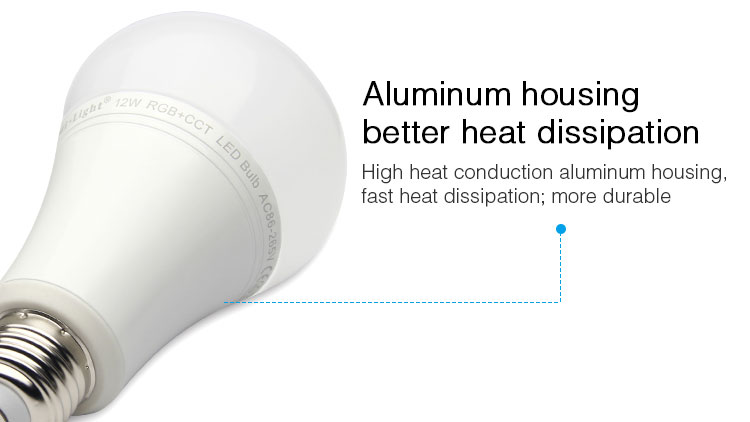 aluminium body better housing heat dissipation E27 smart LED bulb