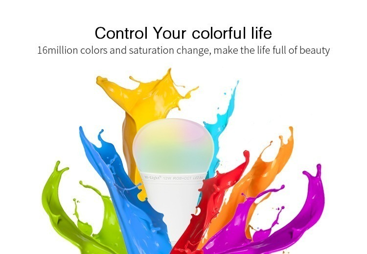 colourful life control your light 16 million colours Mi-Light smart bulb