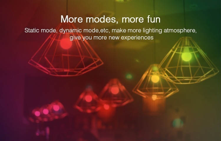 More modes more fun smart LED RGB+CCT remote controlled bulb