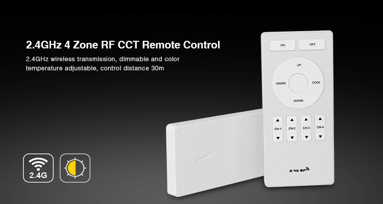 2.4GHz 4-zone RF CCT remot controller by Mi.Light