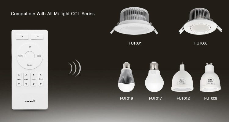 Mi-Light remote controller compatible with all CCT series