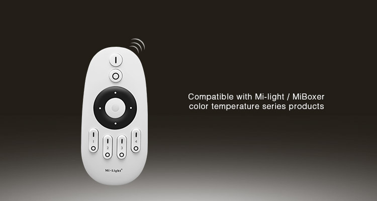 compatible smart lighting products Mi-Light 2.4GHz 4-zone CCT remote controller FUT007