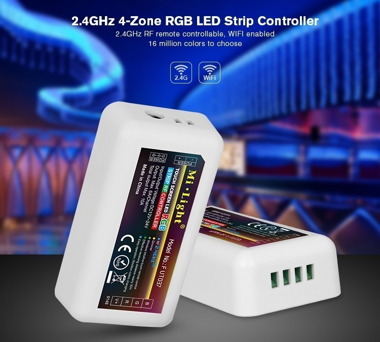 2.4GHz 4-zone RGB LED strip controller receiver by Mi-Light