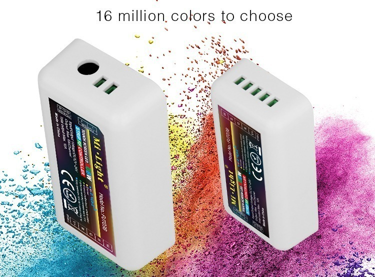16 million colours to choose when using this LED RGBW receiver strip controller