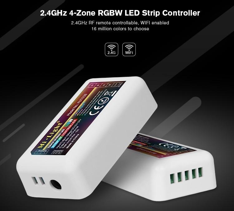 2.4GHz 4-zone RGBW LED strip controller WiFi control