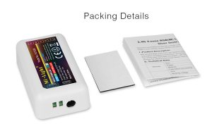 Mi-Light 2.4GHz 4-zone RGBW LED strip controller FUT038 packing details