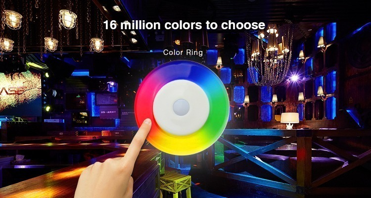 16 million colours multicolour control with use of colour ring