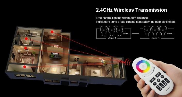 smart lighting group control zone control smartphone app