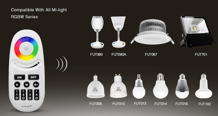 smart remote control compatible with all Mi-Light RGBW series FUT080 FUT067 FUTT01 FUT008 FUT010 FUT014 FUT016 FUT102
