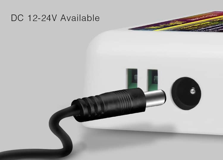 Milight LED strip controller DC jack 12-24V