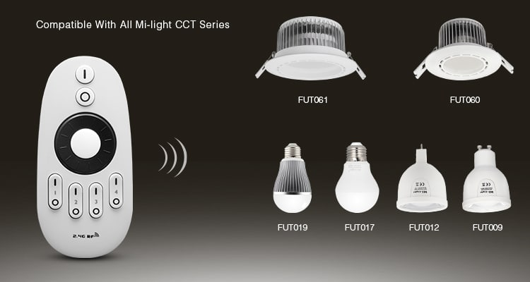 LED lights remote controller compatible with all Mi-LLight CCT series