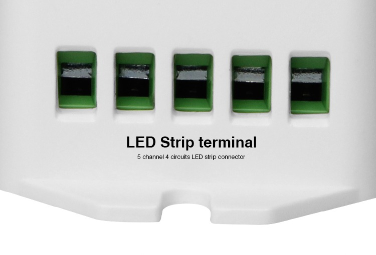 LED strip screw terminals input 5 channels connector