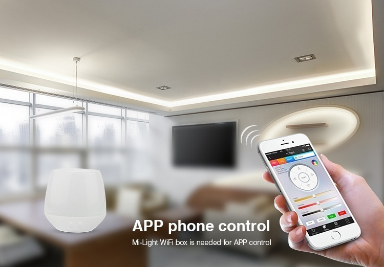 smartphone app control Mi-Light WiFi iBox is needed for app control
