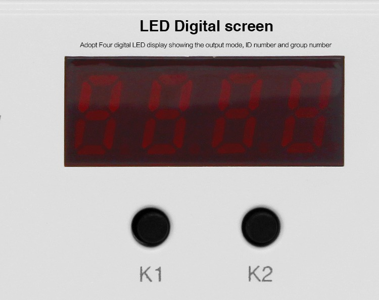 LED digital screen display K1 K2 LS1 strip installation smart lighting